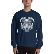 Navy / S United States Of America Eagle Illustration Reverse Sweatshirt by Design Express