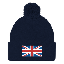 "United Kingdom Flag ""Solo"" Pom Pom Knit Cap"