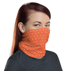 Orange Diamond Neck Gaiter Masks by Design Express