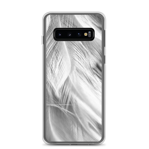 Samsung Galaxy S10 White Feathers Samsung Case by Design Express