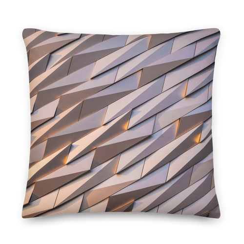 22×22 Abstract Metal Square Premium Pillow by Design Express