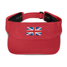 "Red United Kingdom Flag ""Solo"" Visor by Design Express"