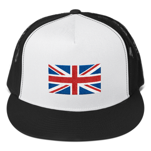 "Black/ White/ Black United Kingdom Flag ""Solo"" Trucker Cap by Design Express"