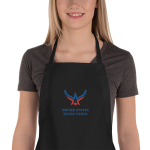 Black United States Space Force Embroidered Apron by Design Express