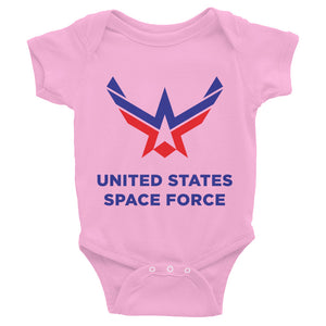 Pink / 6M United States Space Force Infant Bodysuit by Design Express
