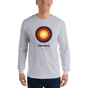 "Sport Grey / S Germany ""Target"" Long Sleeve T-Shirt by Design Express"
