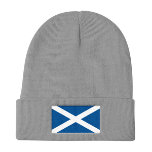 "Gray Scotland Flag ""Solo"" Knit Beanie by Design Express"