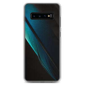 Samsung Galaxy S10+ Blue Black Feather Samsung Case by Design Express