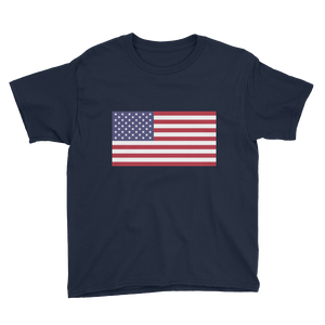 "United States Flag ""Solo"" Youth Short Sleeve T-Shirt"