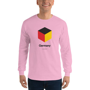 "Light Pink / S Germany ""Cubist"" Long Sleeve T-Shirt by Design Express"