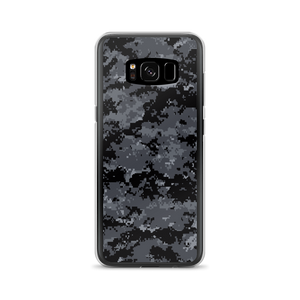 Samsung Galaxy S8 Dark Grey Digital Camouflage Print Samsung Case by Design Express