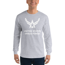 "Sport Grey / S United States Space Force ""Reverse"" Long Sleeve T-Shirt by Design Express"