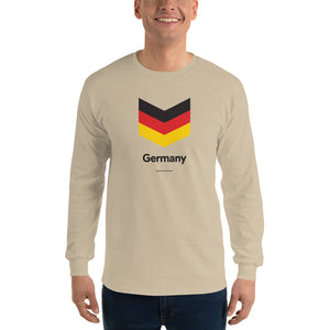 "Sand / S Germany ""Chevron"" Long Sleeve T-Shirt by Design Express"
