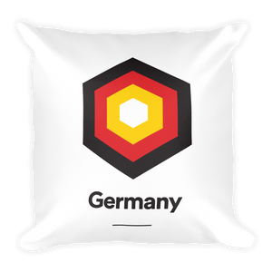 "Germany ""Hexagon"" Square Pillow"