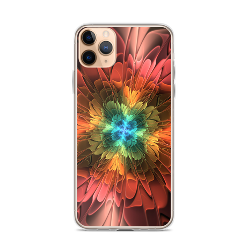iPhone 11 Pro Max Abstract Flower 03 iPhone Case by Design Express