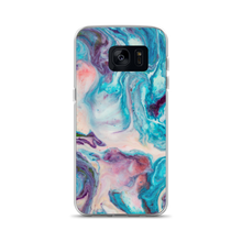 Samsung Galaxy S7 Blue Multicolor Marble Samsung Case by Design Express