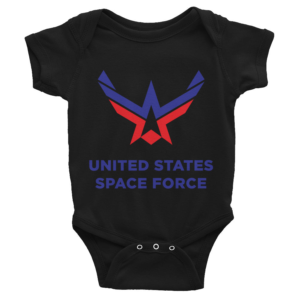 Black / 6M United States Space Force Infant Bodysuit by Design Express