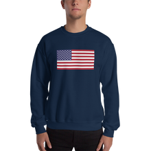"Navy / S United States Flag ""Solo"" Sweatshirt by Design Express"