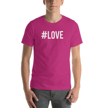 Berry / S Hashtag #LOVE Short-Sleeve Unisex T-Shirt by Design Express