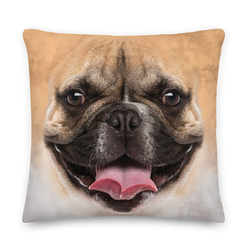 22×22 French Bulldog Premium Pillow by Design Express