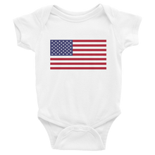 "White / 6M United States Flag ""Solo"" Infant Bodysuit by Design Express"