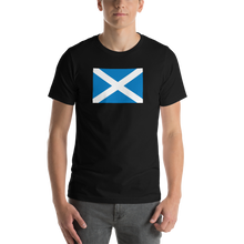 "Black / S Scotland Flag ""Solo"" Short-Sleeve Unisex T-Shirt by Design Express"