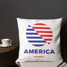 "America ""The Rising Sun"" Square Premium Pillow by Design Express"