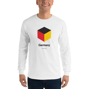 "White / S Germany ""Cubist"" Long Sleeve T-Shirt by Design Express"