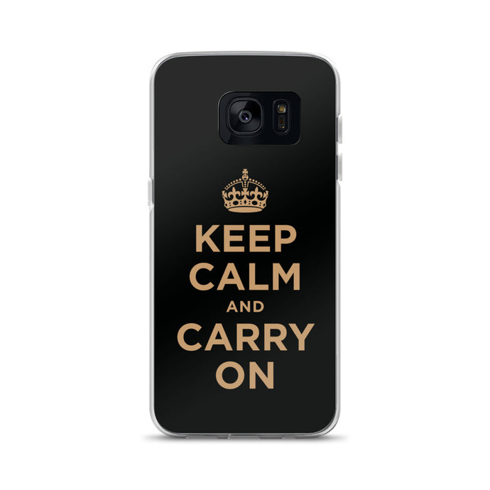 Keep Calm and Carry On (Black Gold) Samsung Case