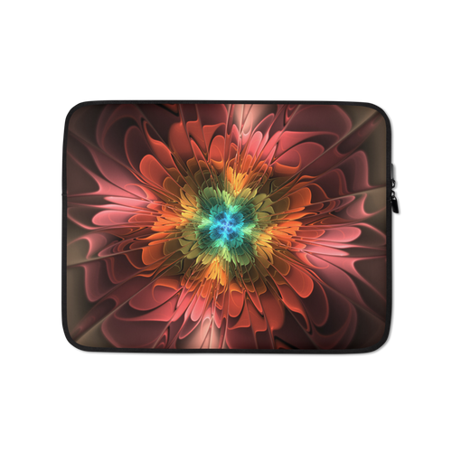 13 in Abstract Flower 03 Laptop Sleeve by Design Express