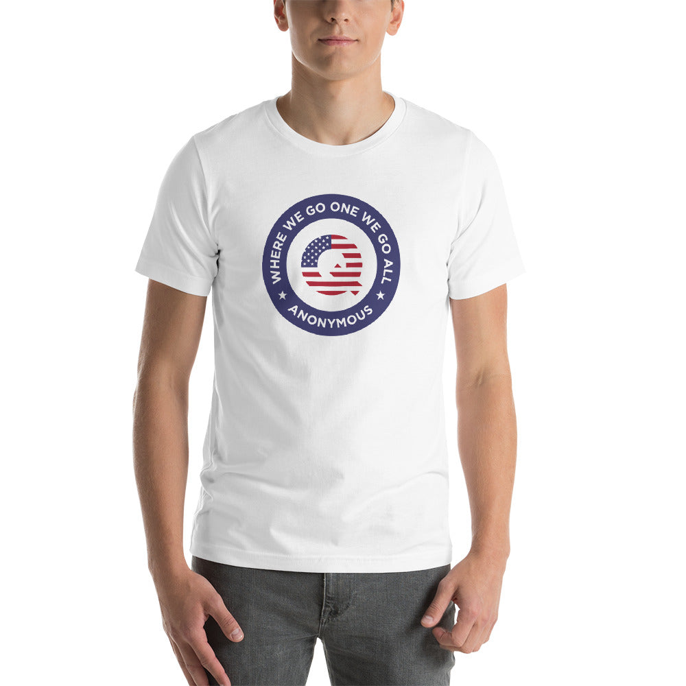 XS Q Anonymous America Short-Sleeve Unisex T-Shirt by Design Express