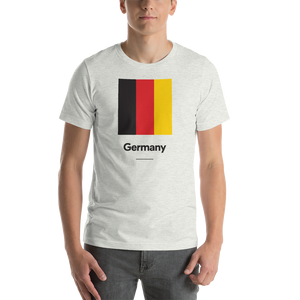 "Ash / S Germany ""Block"" Unisex T-Shirt by Design Express"