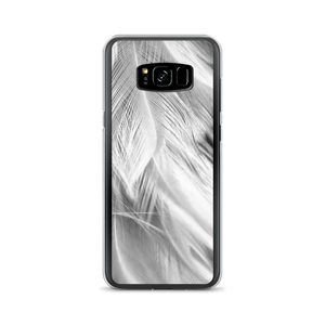 Samsung Galaxy S8+ White Feathers Samsung Case by Design Express