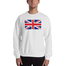 "White / S United Kingdom Flag ""Solo"" Sweatshirt by Design Express"