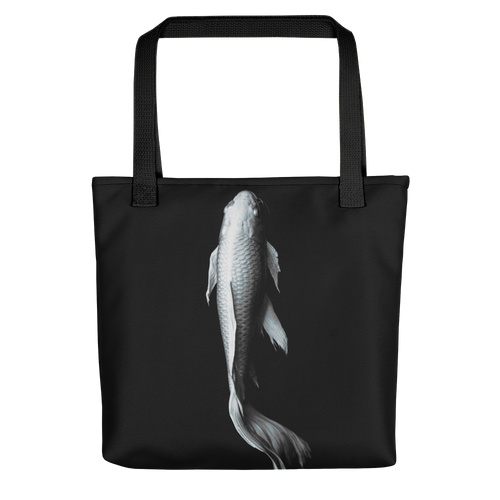 Default Title White Koi Fish Tote bag by Design Express