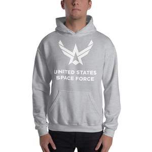 "Sport Grey / S United States Space Force ""Reverse"" Hooded Sweatshirt by Design Express"