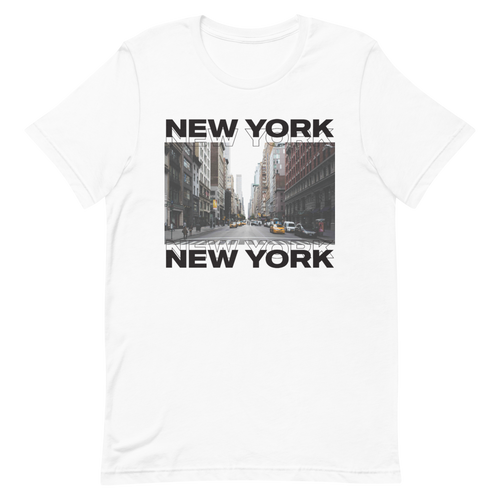XS New York Front Unisex White T-Shirt by Design Express