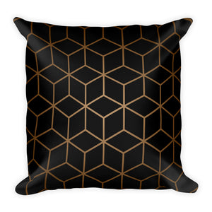 Diamonds Black Brown Radial Square Premium Pillow by Design Express