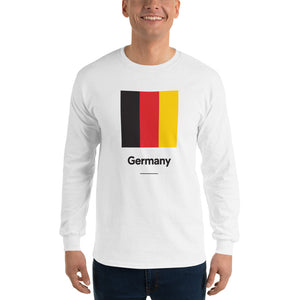"White / S Germany ""Block"" Long Sleeve T-Shirt by Design Express"