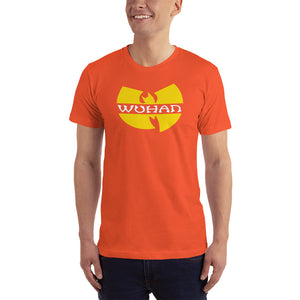Orange / XS Wuhan Clan Unisex Black T-Shirt (100% Made in the USA 🇺🇸) by Design Express