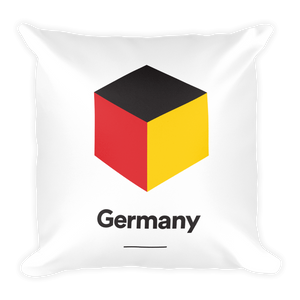 "Germany ""Cubist"" Square Pillow"