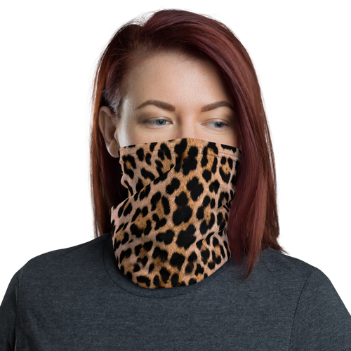 Default Title Leopard Print Neck Gaiter Masks by Design Express