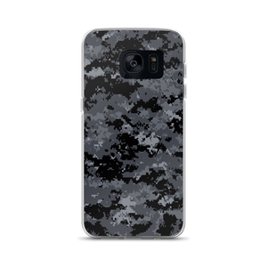 Samsung Galaxy S7 Dark Grey Digital Camouflage Print Samsung Case by Design Express