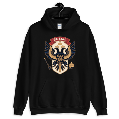 Black / S Eagle Russia Unisex Hoodie by Design Express