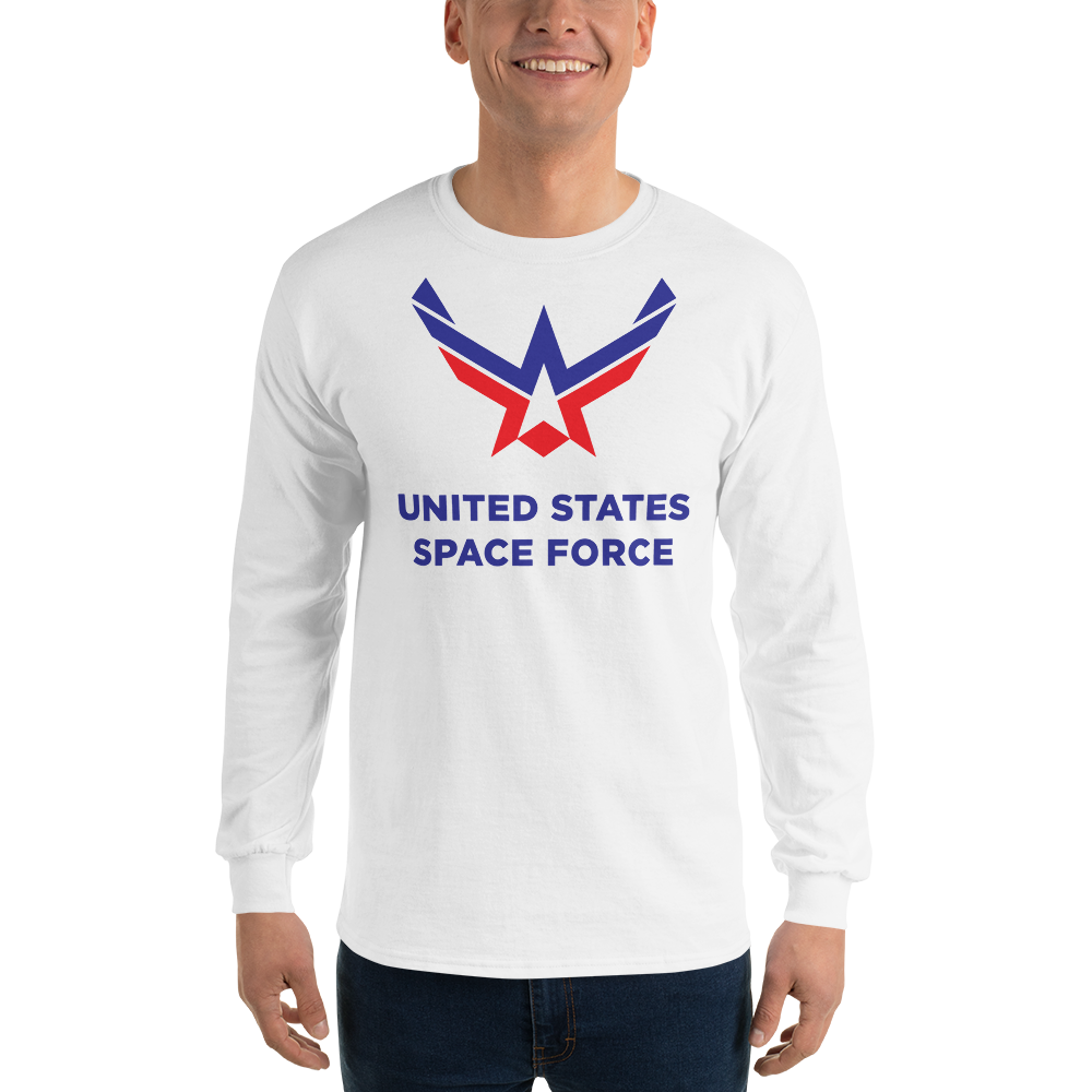 White / S United States Space Force Long Sleeve T-Shirt by Design Express