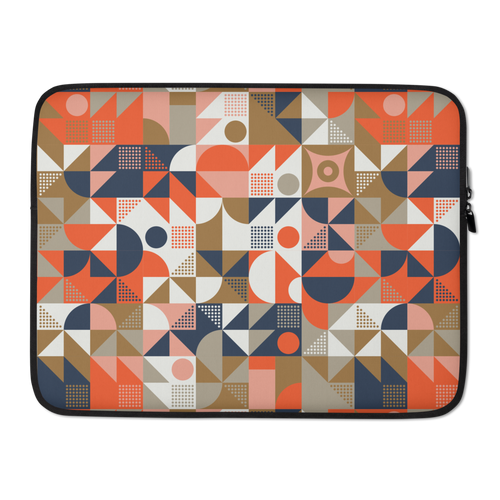 15 in Mid Century Pattern Laptop Sleeve by Design Express