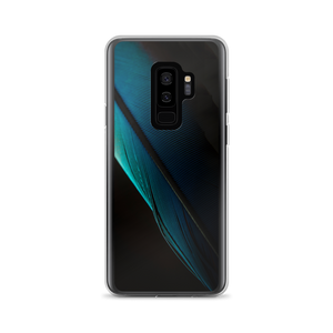 Samsung Galaxy S9+ Blue Black Feather Samsung Case by Design Express