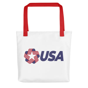 "Red USA ""Rosette"" Tote bag Totes by Design Express"