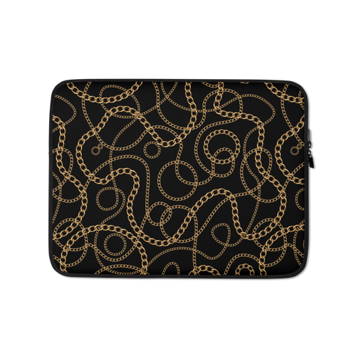 13 in Golden Chains Laptop Sleeve by Design Express