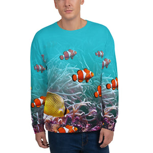 "XS Sea World ""All Over Animal"" Unisex Sweatshirt by Design Express"